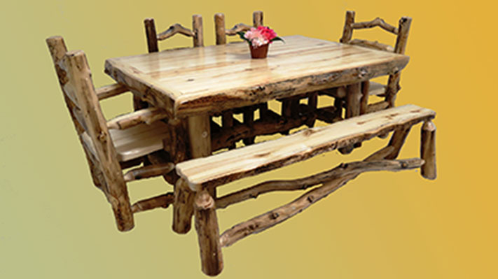 Aspen Grizzly 4' Dining Table