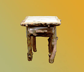 Aspen Grizzly One Drawer End Table