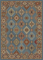 Mayberry Rug - Lodge King - Blue