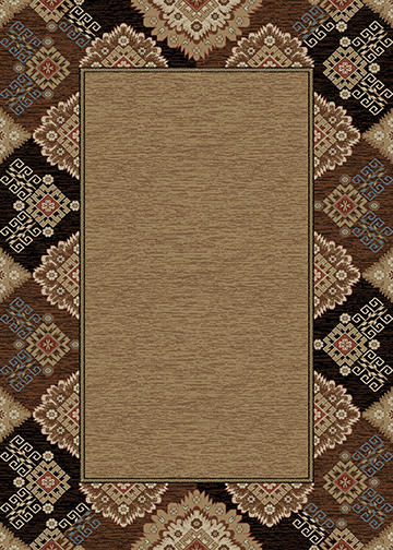 Mayberry Rug - Lodge King -Border