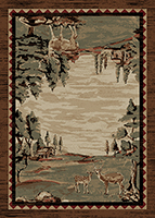 Mayberry Rug - Lodge King -Deer