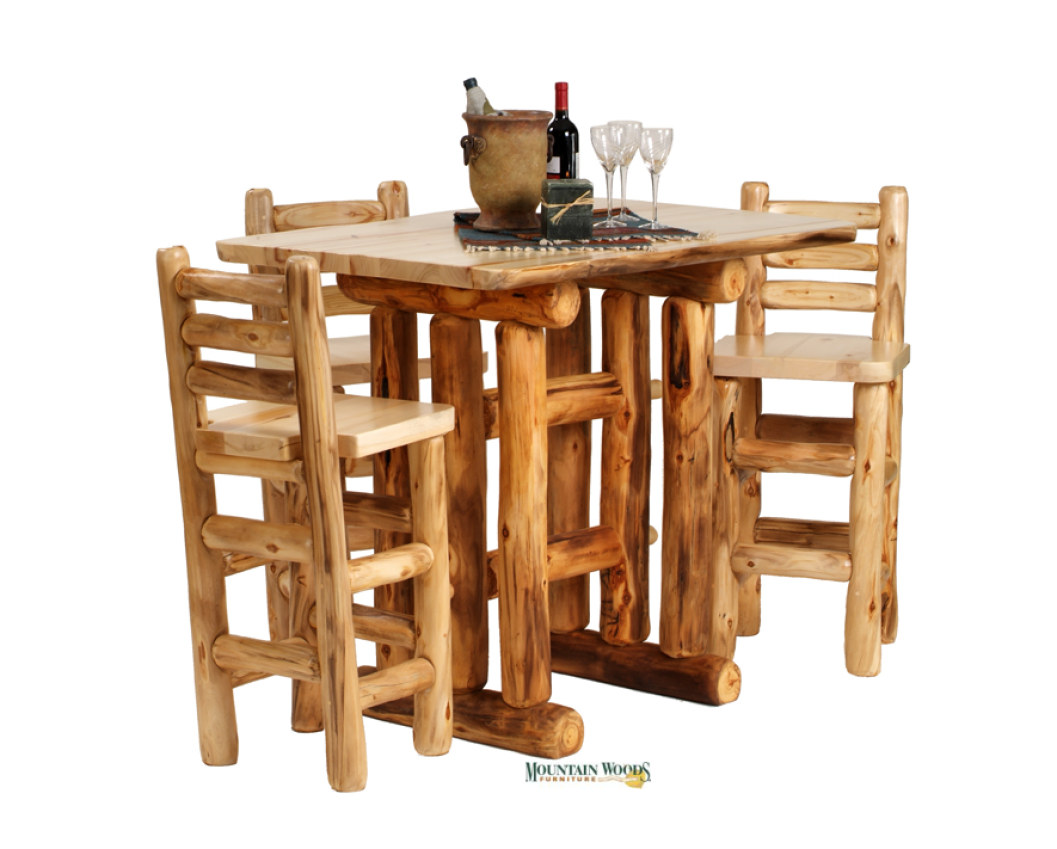 Handcrafted rustic aspen log furniture and pine log furniture for ...