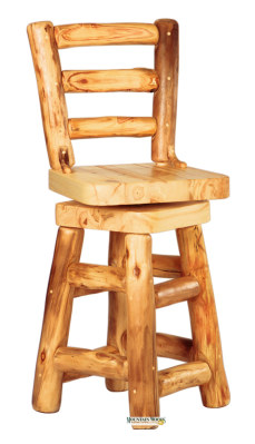 Barstool with back and swivel