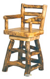Barstool with back, arms and swivel