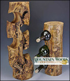 Rustic Aspen 3 Hole Wine Rack