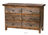 "Wyoming Collection 6 Drawer 52"" Dresser"