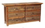 "Wyoming Collection 6 Drawer 72"" Dresser"